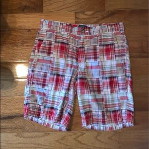 Pink and White Men's Shorts